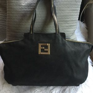 Fendi Black Leather XL Tote 👜